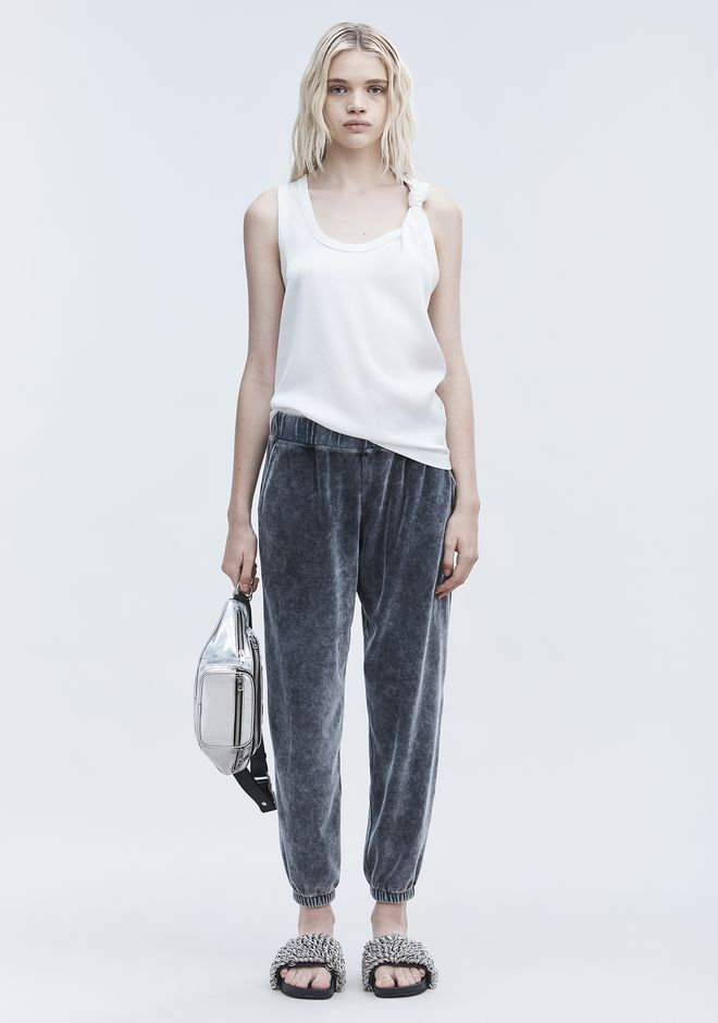 T by ALEXANDER WANG sltbbtm VELOUR SWEATPANTS