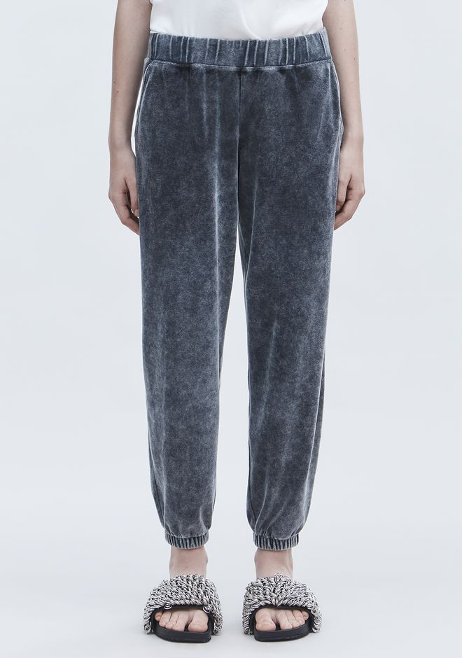 T by ALEXANDER WANG VELOUR SWEATPANTS PANTS Adult 12_n_d