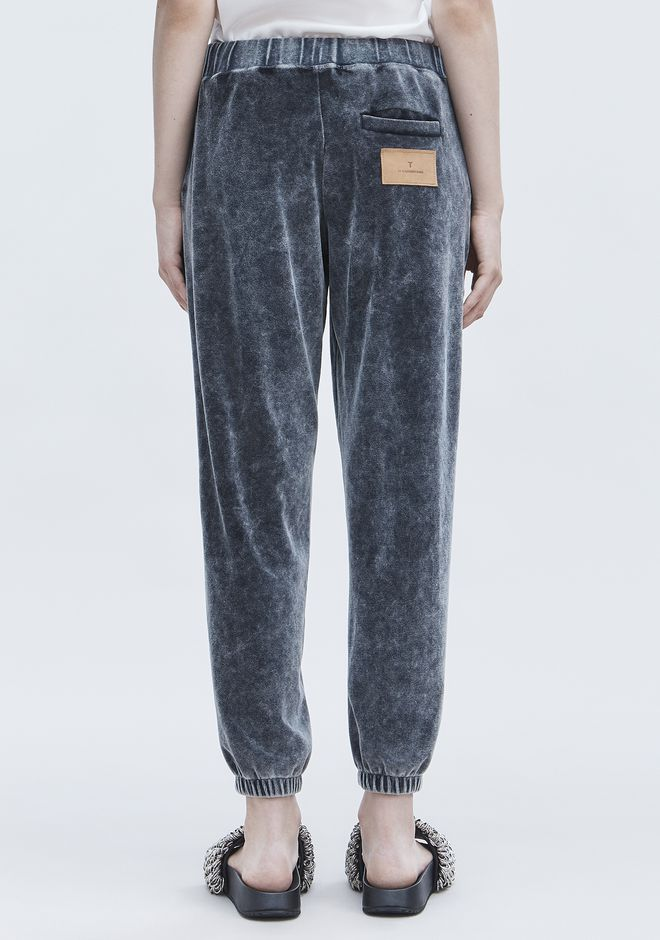 T by ALEXANDER WANG VELOUR SWEATPANTS PANTALONI Adult 12_n_r