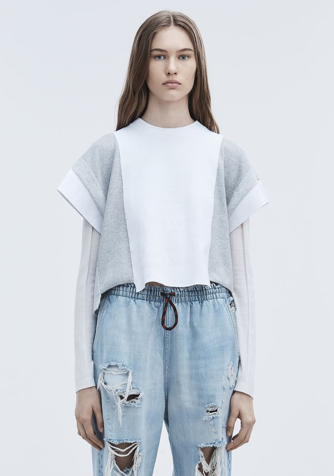 T by ALEXANDER WANG t-by-alexander-wang-sale WAFFLE JERSEY TOP