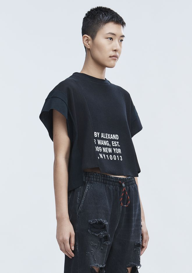 T by ALEXANDER WANG WAFFLE JERSEY TOP TOP Adult 12_n_a