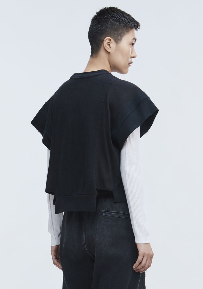 T by ALEXANDER WANG WAFFLE JERSEY TOP TOP Adult 12_n_d