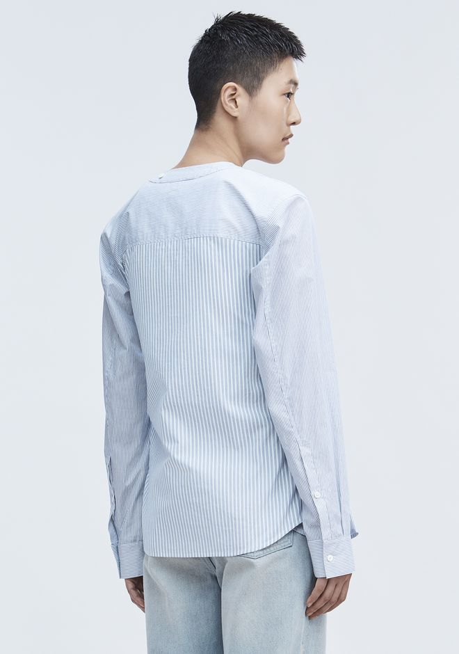 T by ALEXANDER WANG TIE FRONT SHIRT TOP Adult 12_n_d