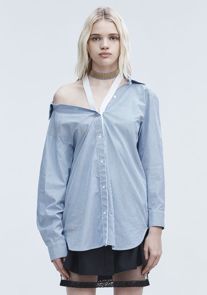 T by ALEXANDER WANG COTTON POPLN SHIRT SHIRT Adult 12_n_e