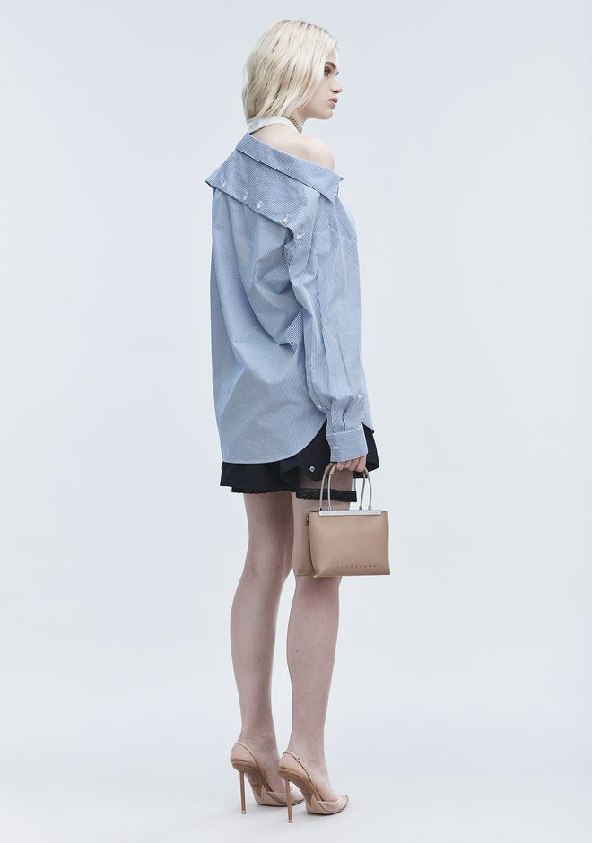 T by ALEXANDER WANG COTTON POPLN SHIRT SHIRT Adult 12_n_f