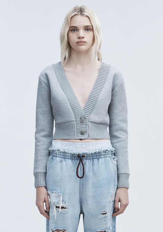 T by ALEXANDER WANG CARDIGANS CROPPED CARDIGAN