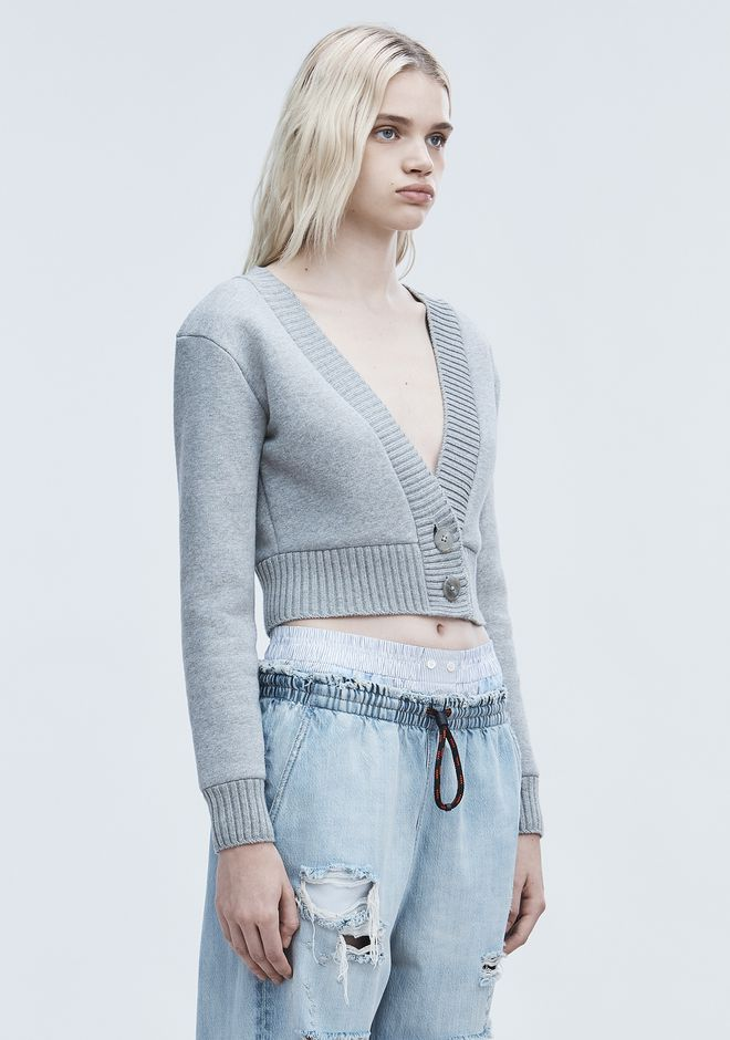 T by ALEXANDER WANG CROPPED CARDIGAN CARDIGAN Adult 12_n_a
