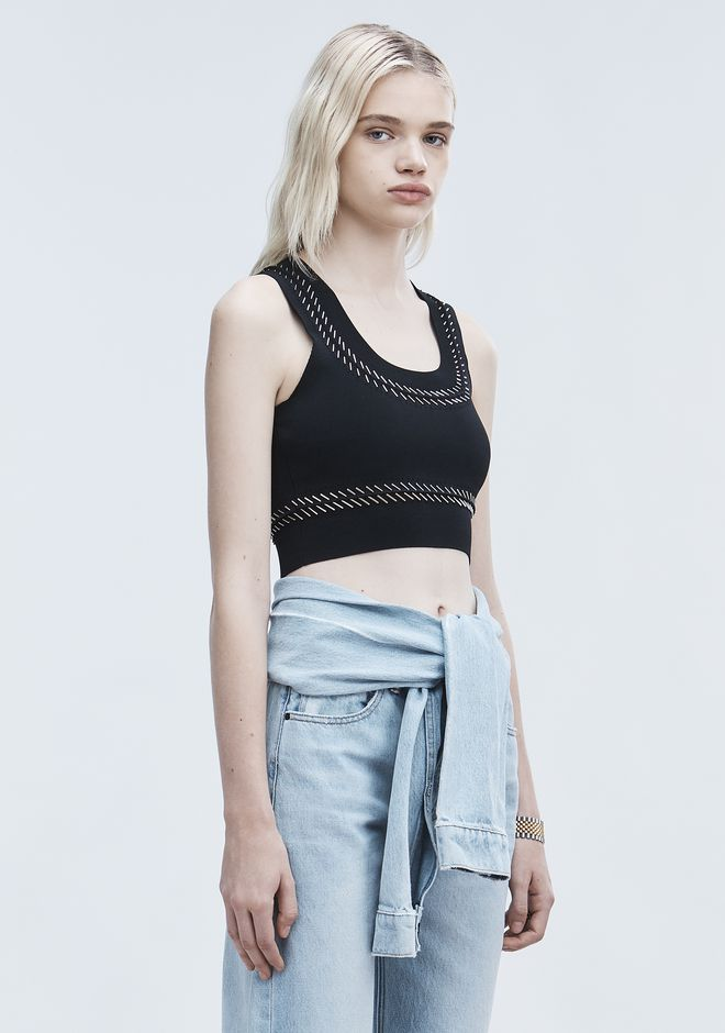 ALEXANDER WANG PIERCED BRA TOP TOP Adult 12_n_a