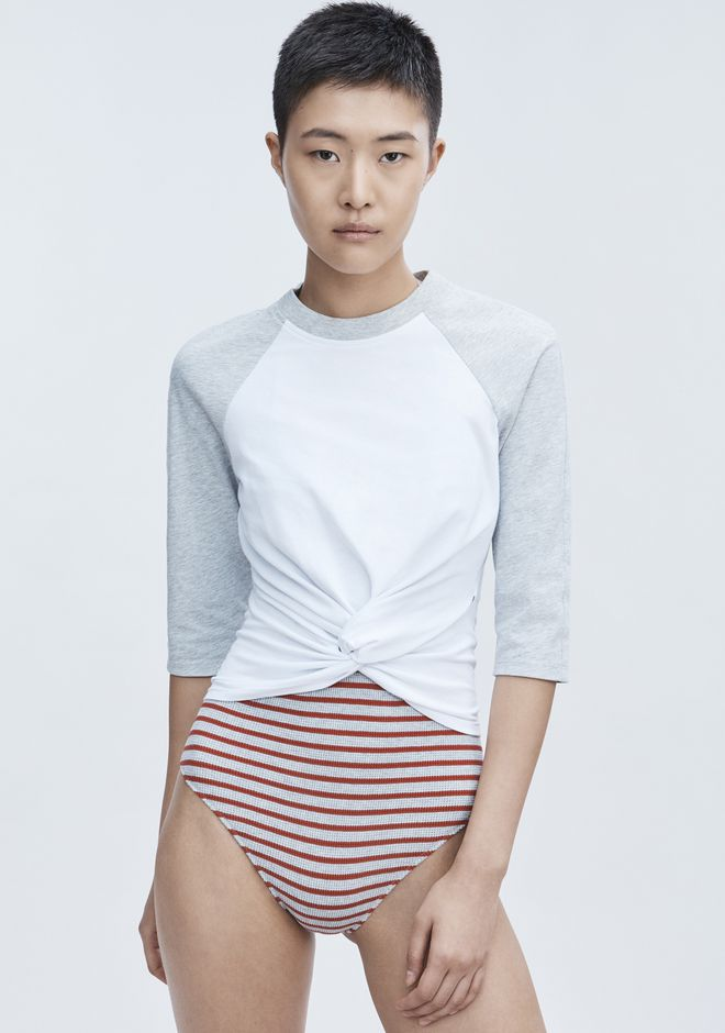 T by ALEXANDER WANG TWIST FRONT TOP TOP Adult 12_n_r