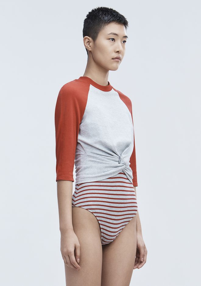 T by ALEXANDER WANG TWIST FRONT TOP HAUTS Adult 12_n_a