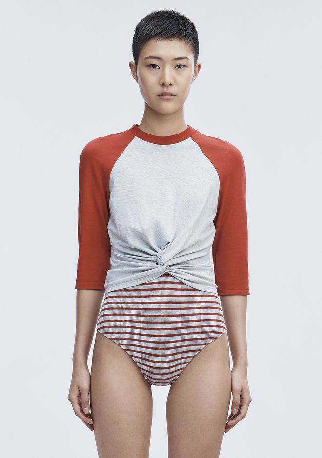 T by ALEXANDER WANG TWIST FRONT TOP TOP Adult 12_n_e