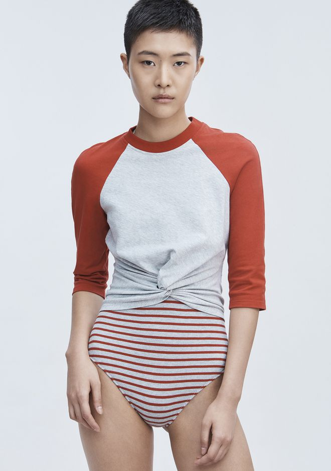 T by ALEXANDER WANG TWIST FRONT TOP HAUTS Adult 12_n_r