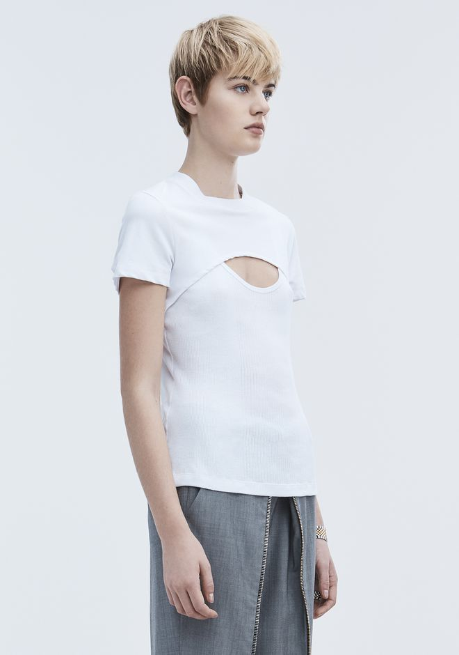 T by ALEXANDER WANG COMBO SHORT SLEEVE TOP 上衣 Adult 12_n_a