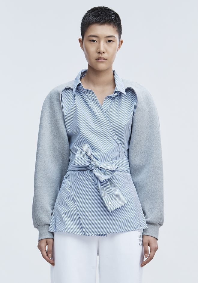 T by ALEXANDER WANG TOPS COMBO WRAP SHIRT