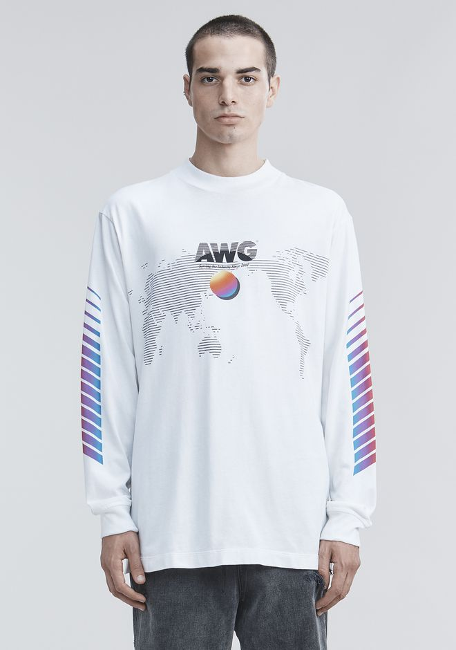ALEXANDER WANG mens-new-apparel AWG LONG SLEEVE SHIRT