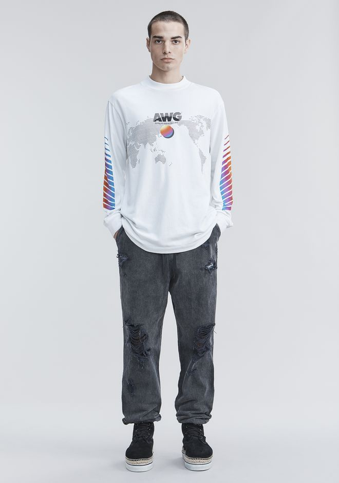 Awg Long Sleeve Shirt by Alexander Wang