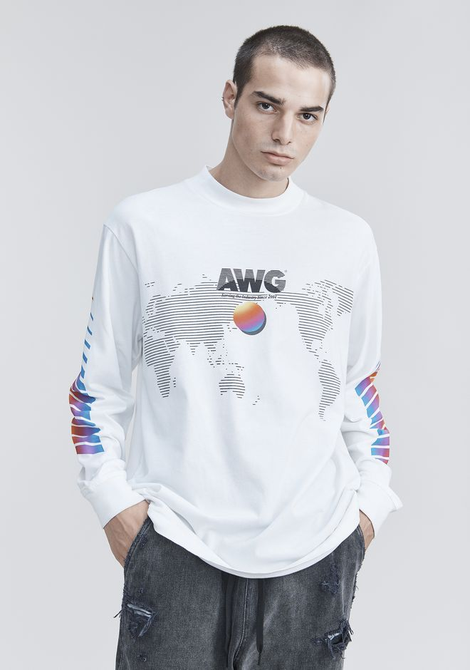 ALEXANDER WANG AWG LONG SLEEVE SHIRT 긴소매 티셔츠 Adult 12_n_r