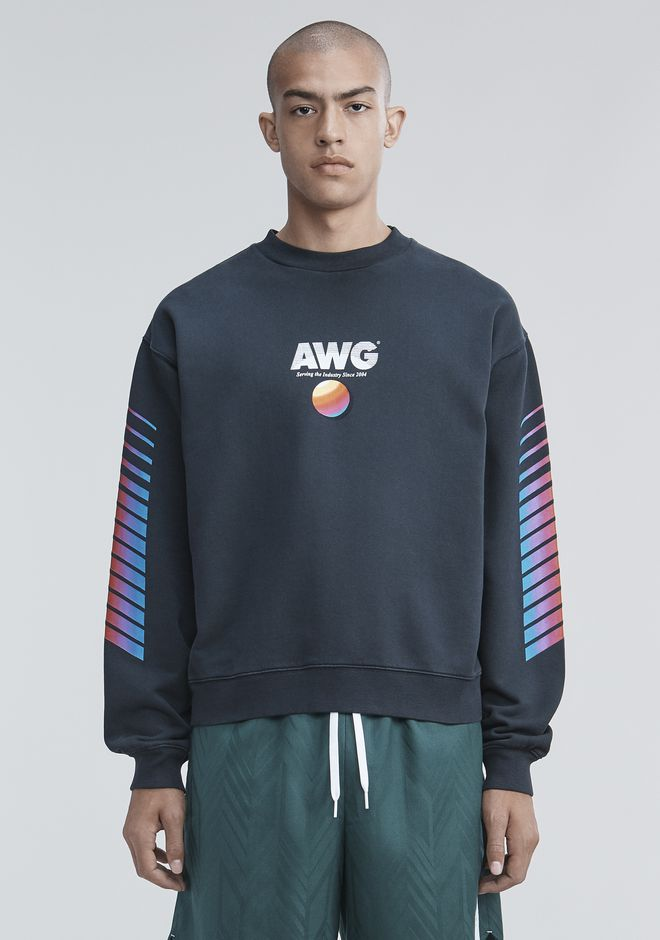 ALEXANDER WANG TOPS Men AWG SWEATSHIRT