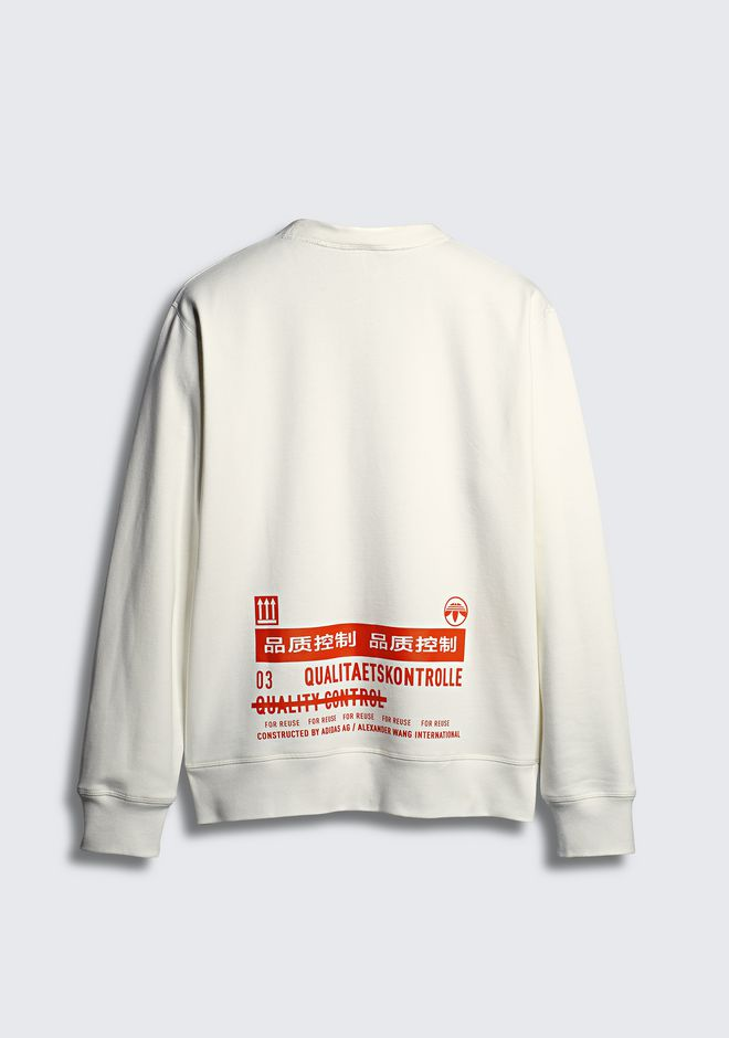 ALEXANDER WANG ADIDAS ORIGINALS BY AW GRAPHIC CREWNECK TOP Adult 12_n_d
