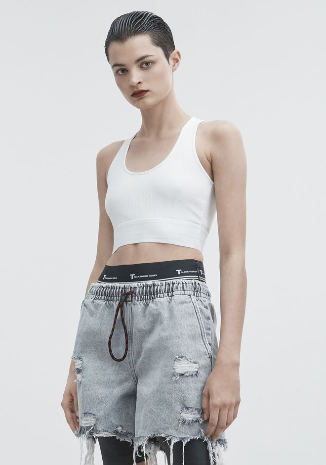 T by ALEXANDER WANG CUT OUT CROP TOP 上衣 Adult 12_n_a
