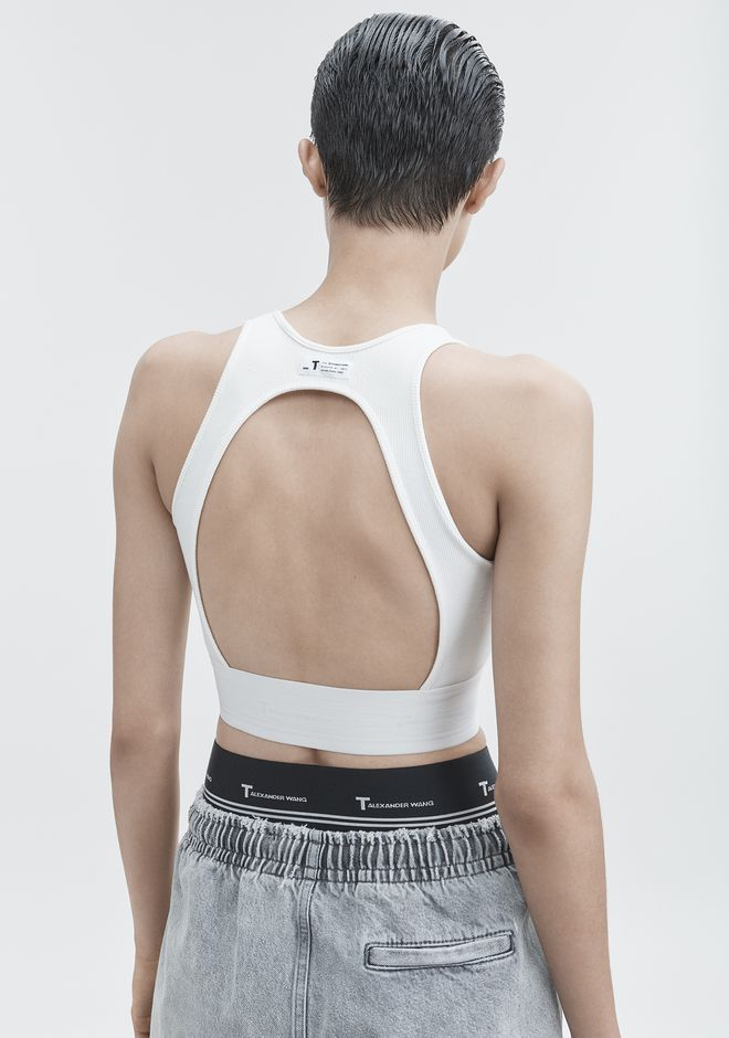 T by ALEXANDER WANG CUT OUT CROP TOP TOP Adult 12_n_d