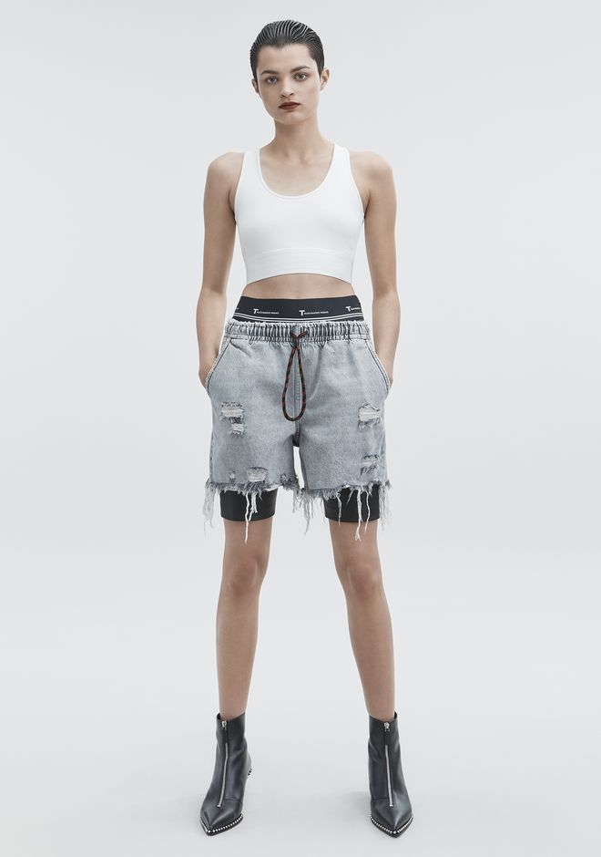 T by ALEXANDER WANG CUT OUT CROP TOP TOP Adult 12_n_f