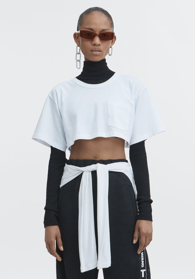 T by ALEXANDER WANG t-by-alexander-wang-classics EXCLUSIVE CROP TEE