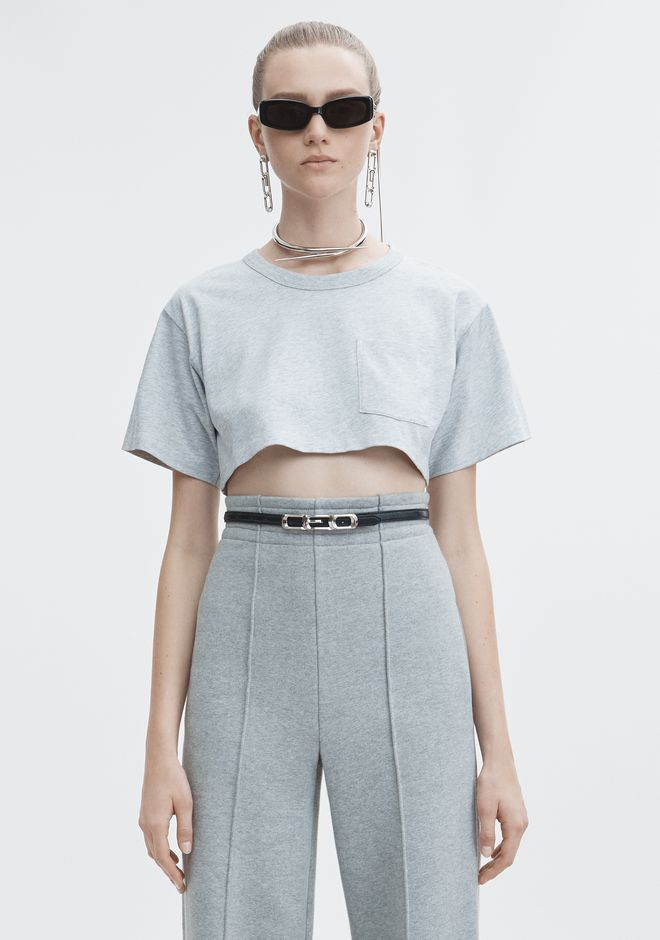 T by ALEXANDER WANG TOPS Women EXCLUSIVE CROP TEE
