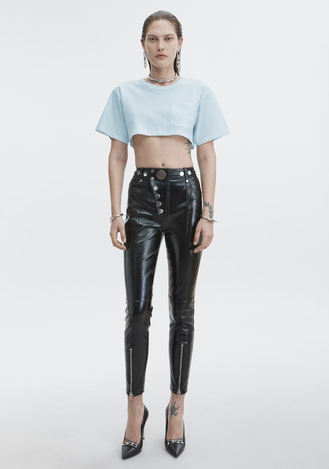 T by ALEXANDER WANG EXCLUSIVE CROP TEE TOP Adult 12_n_f