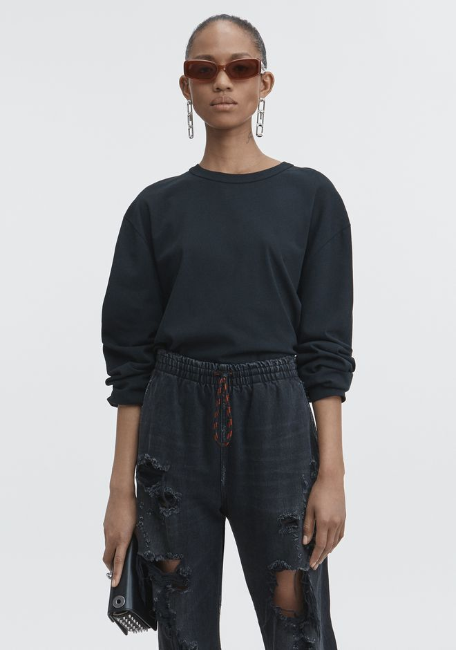T by ALEXANDER WANG TOPS Women EXCLUSIVE LONG SLEEVE TEE