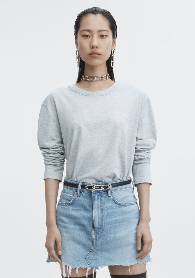 T by ALEXANDER WANG TOPS EXCLUSIVE LONG SLEEVE TEE