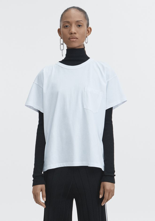 T by ALEXANDER WANG TOPS EXCLUSIVE POCKET TEE
