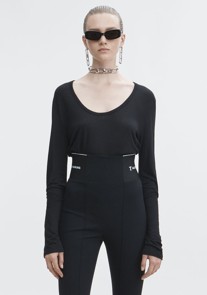 T by ALEXANDER WANG new-arrivals-t-by-alexander-wang-woman EXCLUSIVE JERSEY LONG SLEEVE