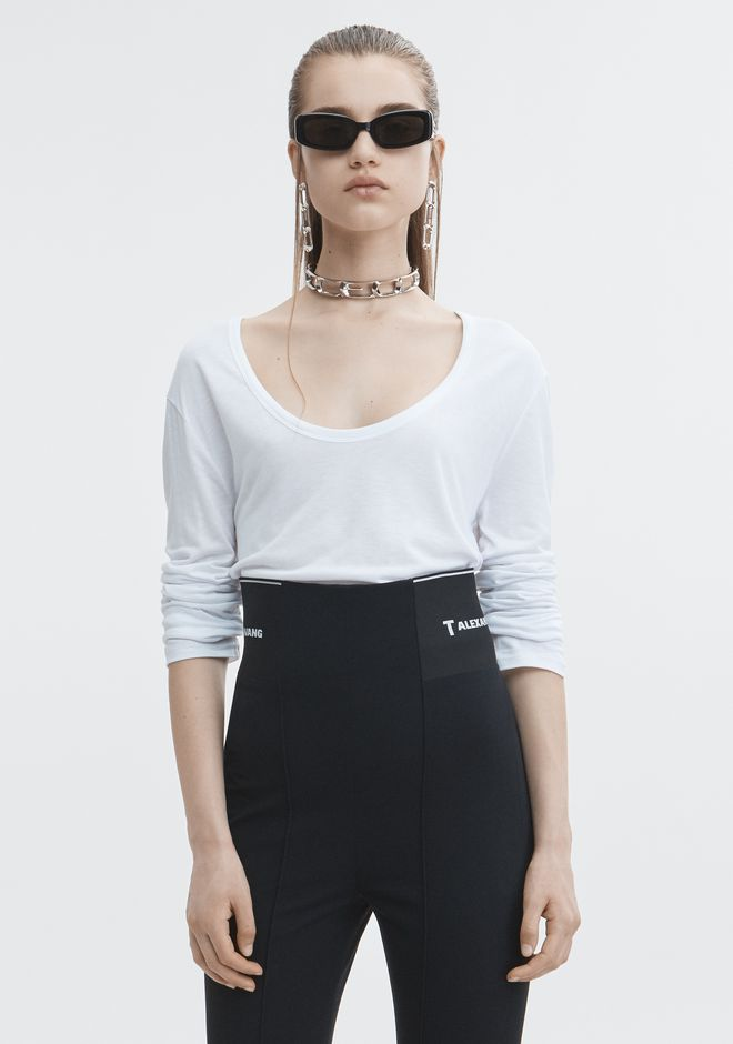 T by ALEXANDER WANG TOPS EXCLUSIVE JERSEY LONG SLEEVE