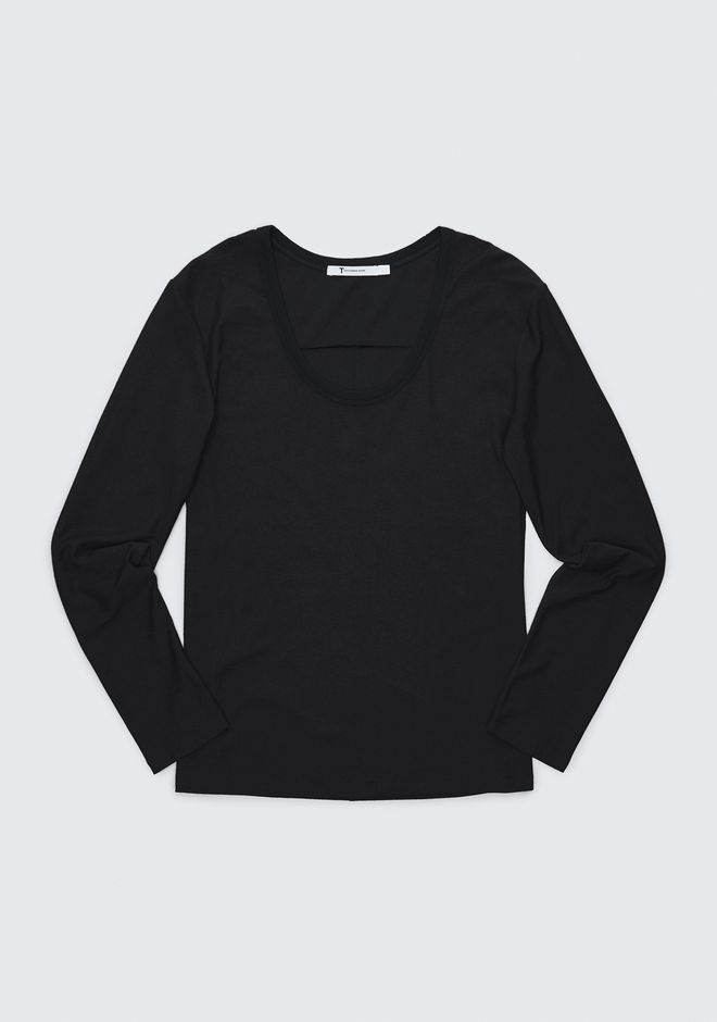 T by ALEXANDER WANG EXCLUSIVE JERSEY LONG SLEEVE HAUTS Adult 12_n_a