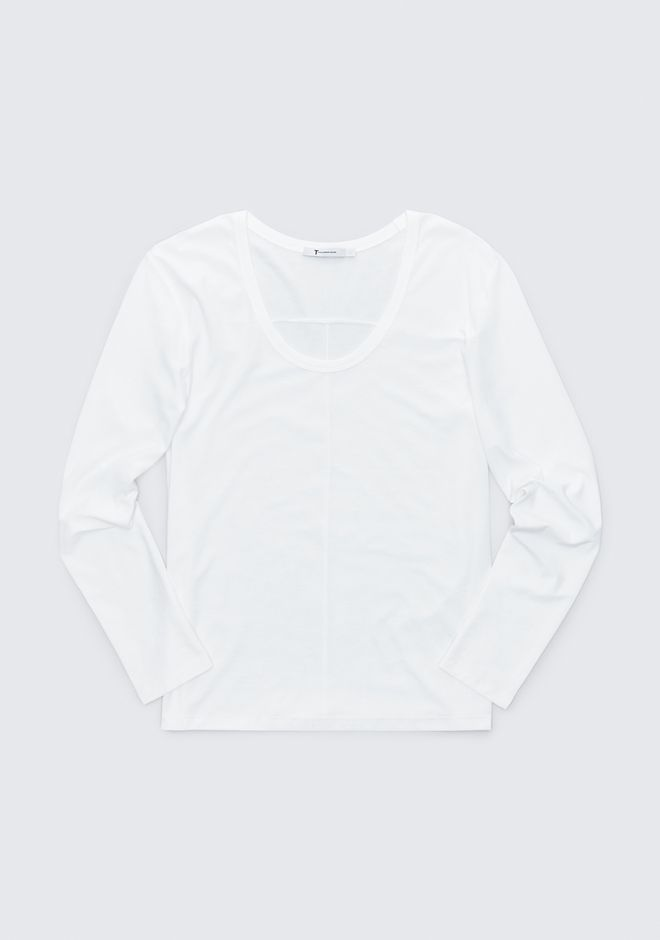 T by ALEXANDER WANG EXCLUSIVE JERSEY LONG SLEEVE TOP Adult 12_n_a