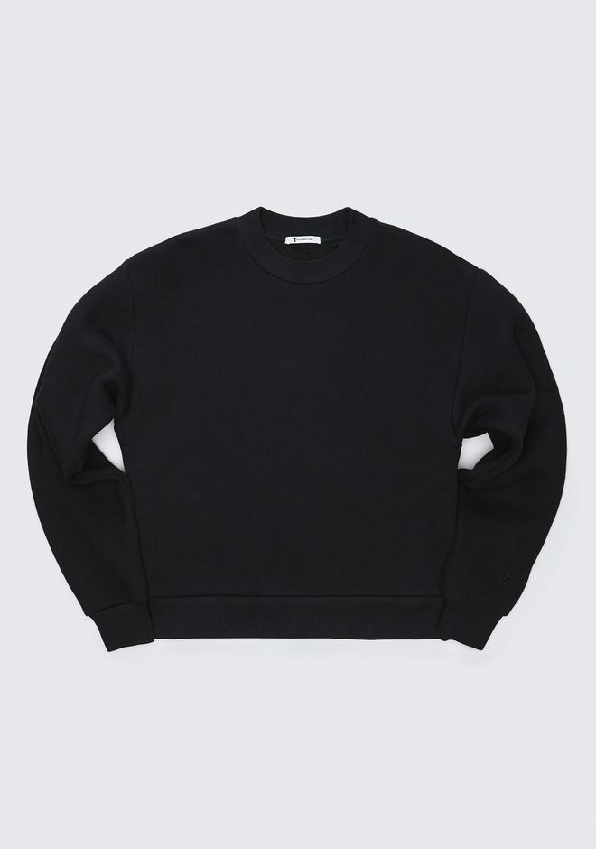 T by ALEXANDER WANG EXCLUSIVE DENSE FLEECE SWEATSHIRT TOP Adult 12_n_a