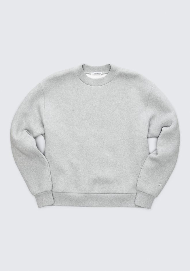 T by ALEXANDER WANG EXCLUSIVE DENSE FLEECE SWEATSHIRT HAUTS Adult 12_n_a