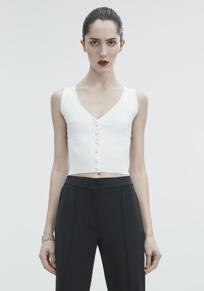 ALEXANDER WANG TOPS Women SHRUNKEN CARDIGAN VEST