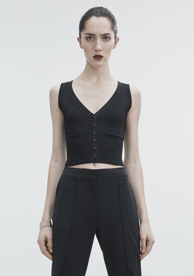 ALEXANDER WANG new-arrivals-ready-to-wear-woman SHRUNKEN CARDIGAN VEST