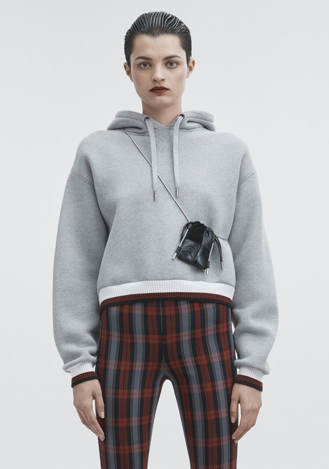 T by ALEXANDER WANG TOPS Women DENSE FLEECE HOODIE