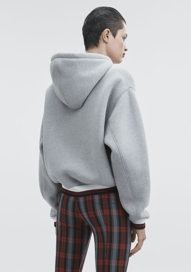 T by ALEXANDER WANG DENSE FLEECE HOODIE  TOP Adult 12_n_d