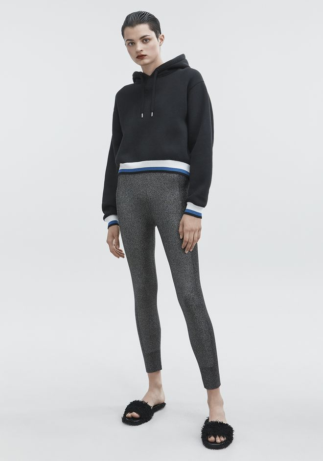 T by ALEXANDER WANG DENSE FLEECE HOODIE  TOP Adult 12_n_f