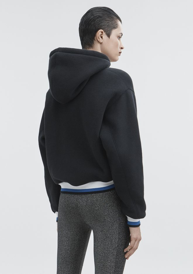 T by ALEXANDER WANG DENSE FLEECE HOODIE  TOP Adult 12_n_r