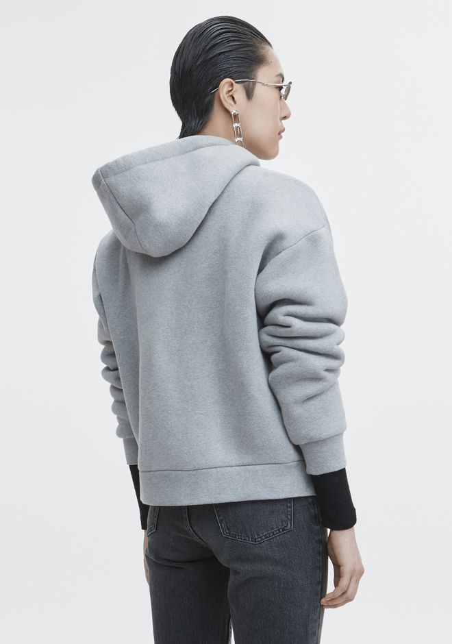 T by ALEXANDER WANG EXCLUSIVE DENSE FLEECE HOODIE TOP Adult 12_n_d