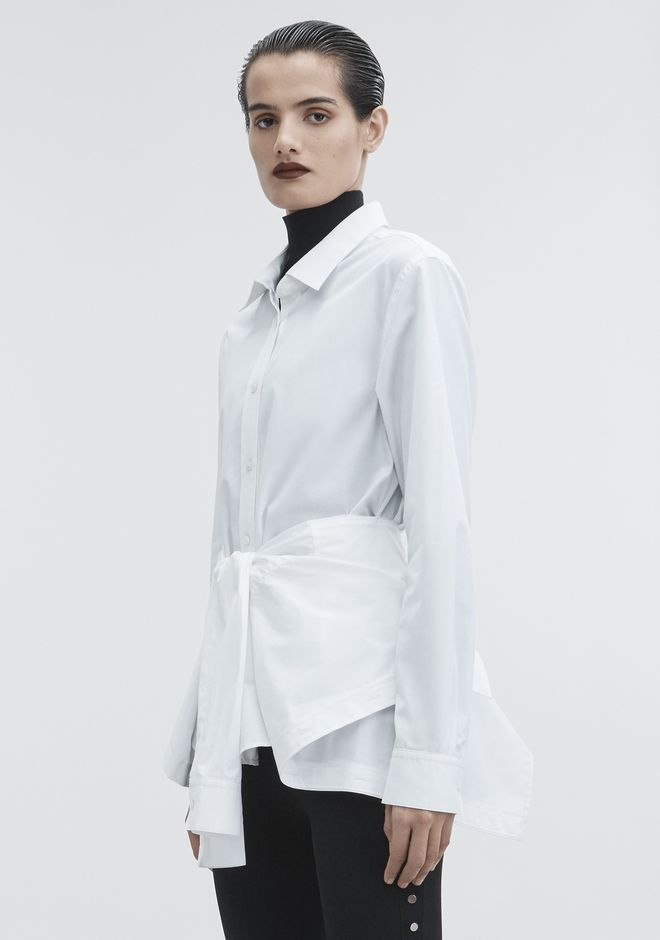 ALEXANDER WANG TIE FRONT SHIRT TOP Adult 12_n_a