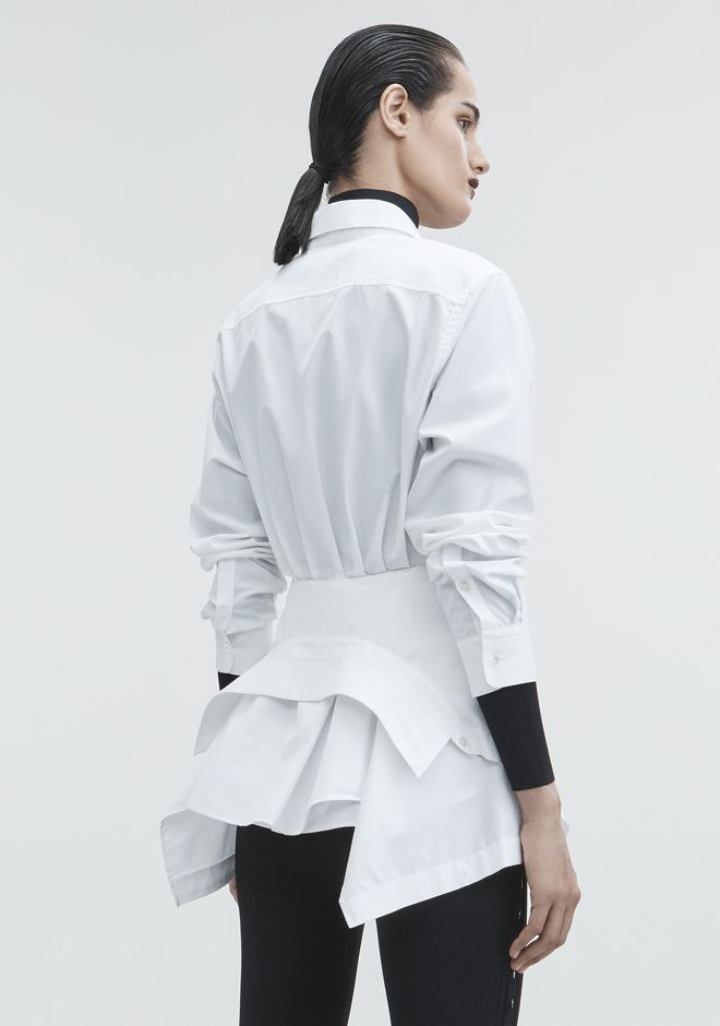 ALEXANDER WANG TIE FRONT SHIRT TOP Adult 12_n_d