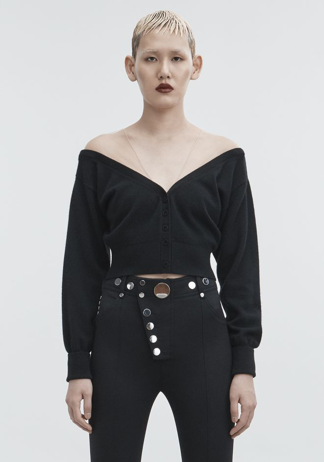 ALEXANDER WANG knitwear-ready-to-wear-woman CROPPED CARDIGAN