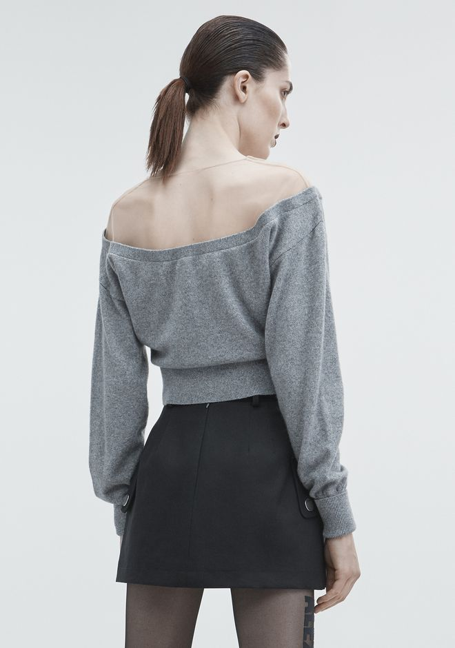 ALEXANDER WANG CROPPED CARDIGAN TOP Adult 12_n_d