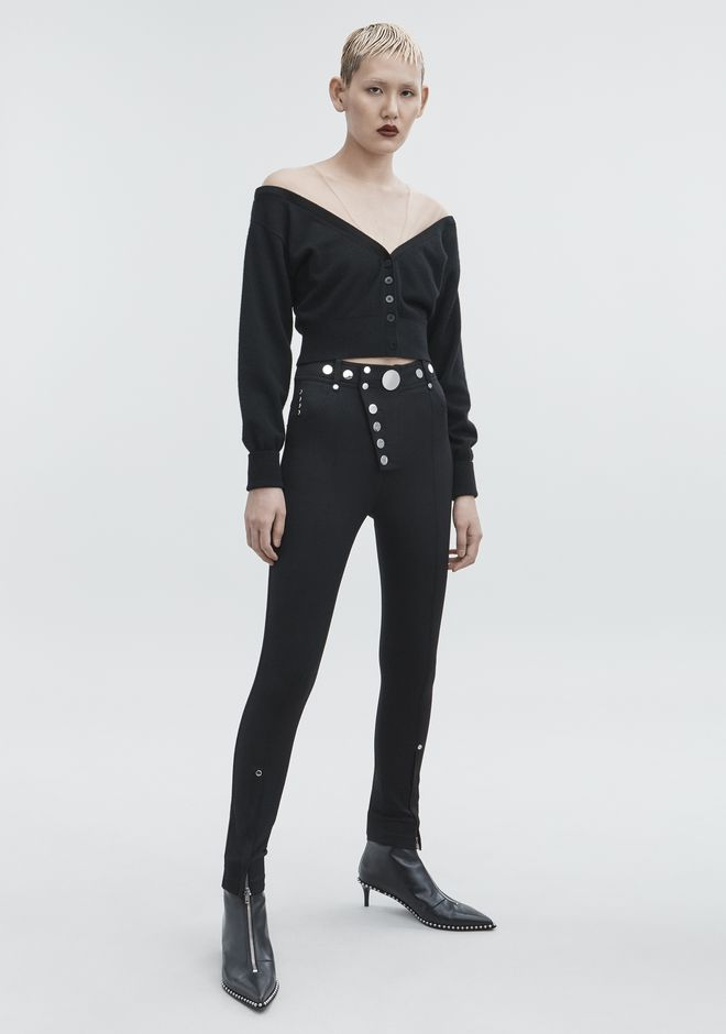 ALEXANDER WANG CROPPED CARDIGAN TOP Adult 12_n_f